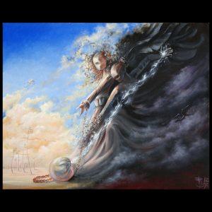 Тень - картина Елены Моргун